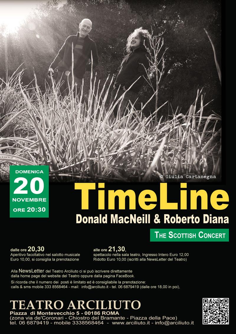 TimeLine con il cantautore Scozzese Donald MacNeill il polistrumentista Roberto Diana