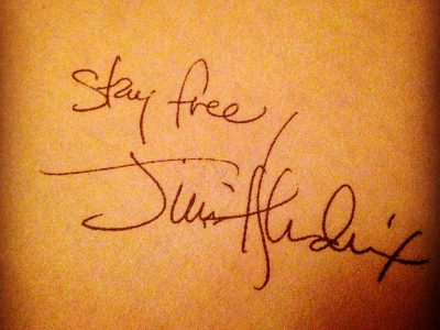 Stay Free by Jimi Hendrix Signature