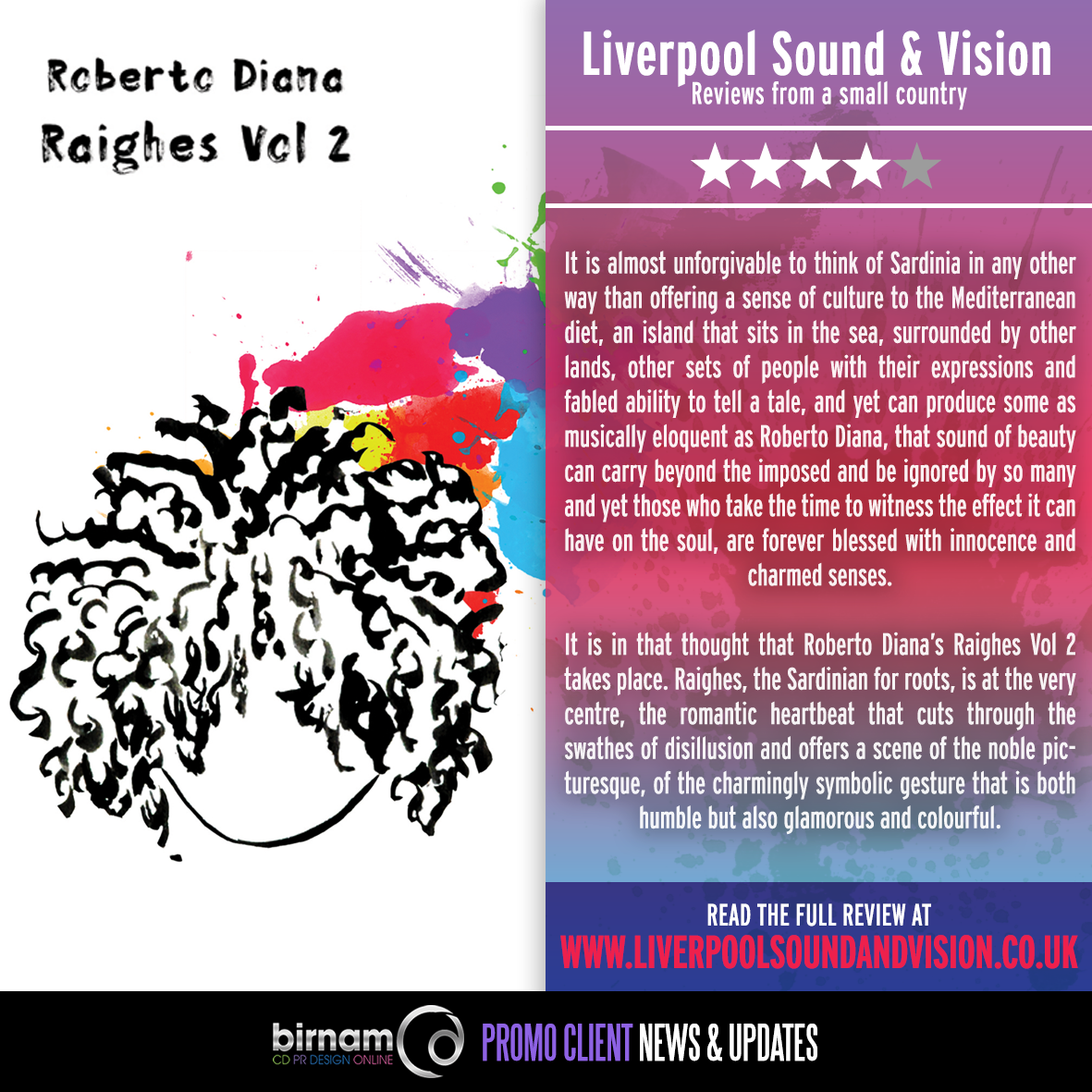 Raighes Vol 2 by Roberto diana 4 stelle su liverpool sound and vision