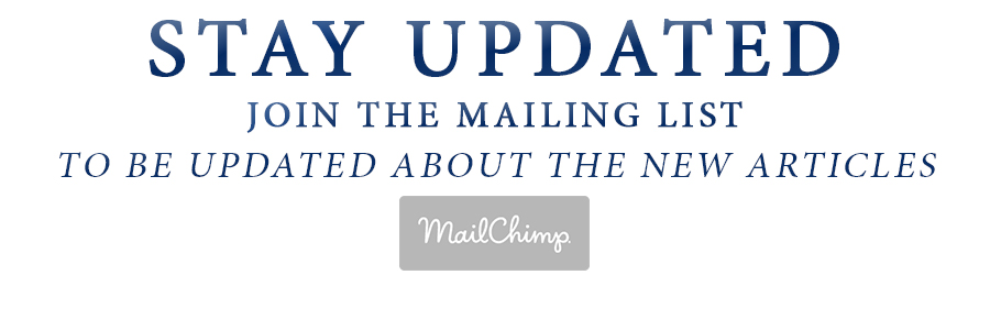 JOIN THE MAILING LIST powered by mailchimp