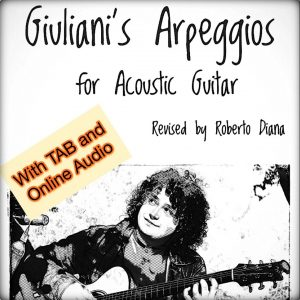 120 arpeggi di Giuliani per chitarra Acustica con TAB and AUDIO