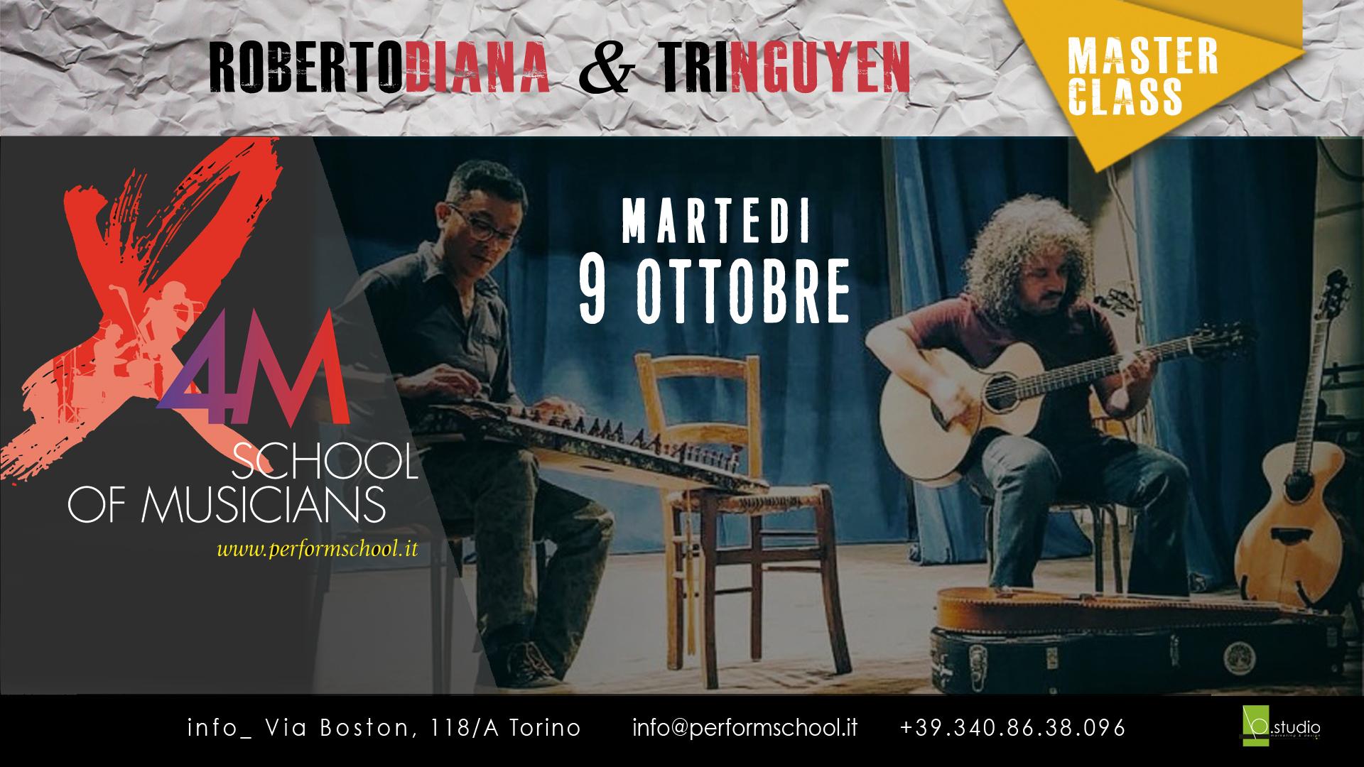 Roberto Diana & Tri Nguyen Workshop Italy Torino Weissenborn and Dan Tranh