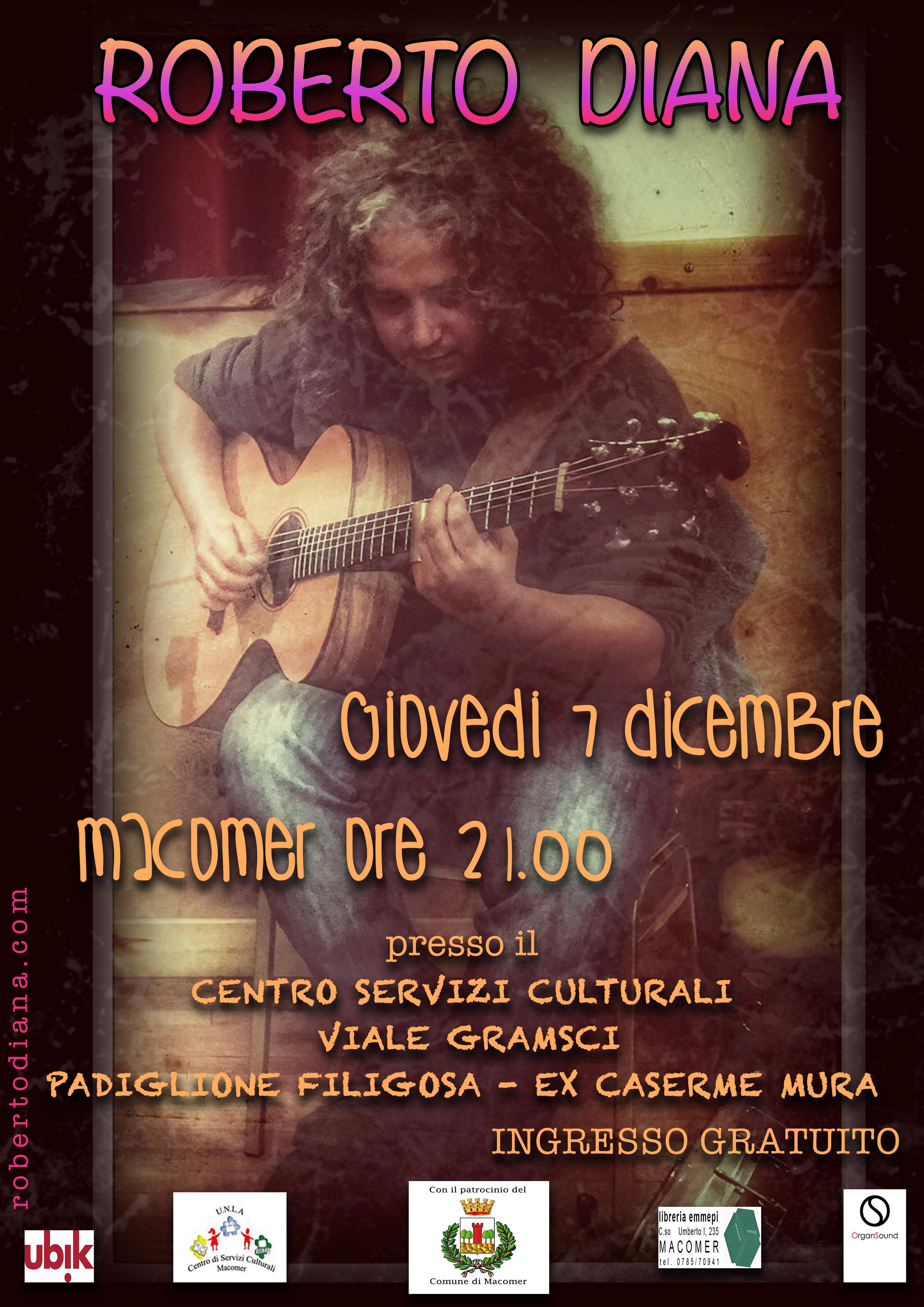 Macomer Roberto Diana il Centro Culturale UBIK Libreria EMMEPI Organ Sound
