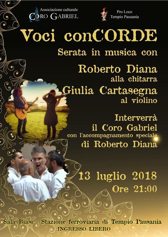 Roberto Diana - Coro Gavino Gabriel (Tempio Pausania) Voci conCorde